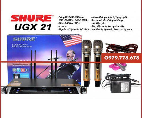Micro Karaoke Shure UGX21