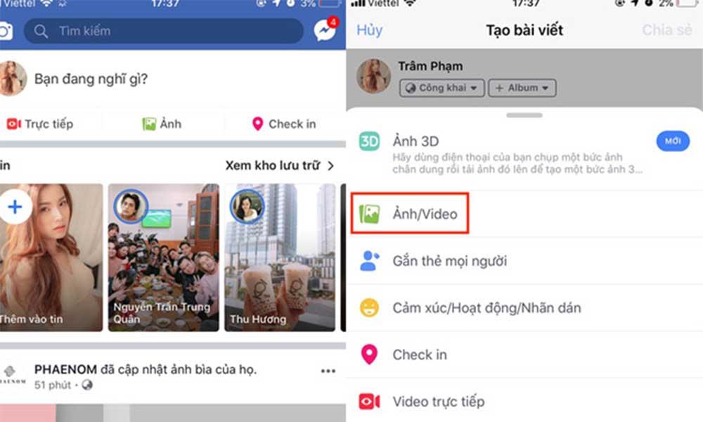 Hướng dẫn đăng video lên Facebook qua điện thoại